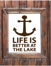 Load image into Gallery viewer, Life is better at the lake wall decal