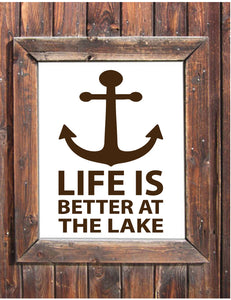 Life is better at the lake wall decal