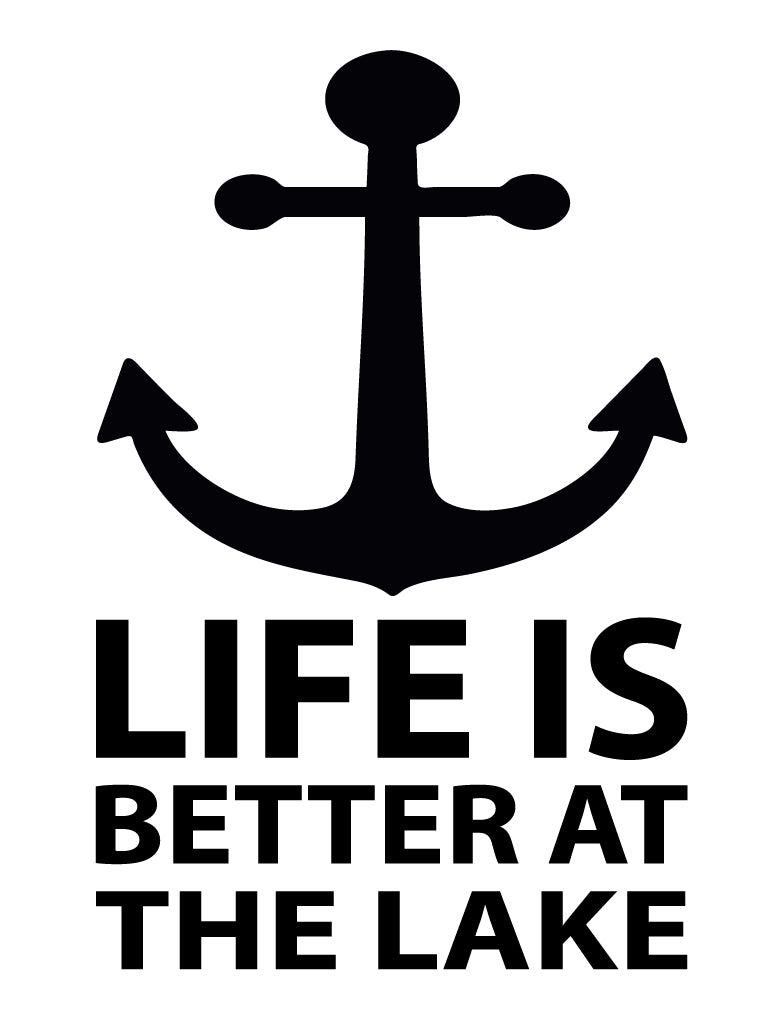 Life is better at the lake wall sticker