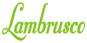 LAMBRUSCO WALL DECAL IN LIME GREEN