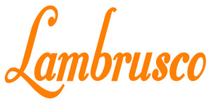 LAMBRUSCO WALL DECAL IN ORANGE