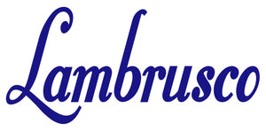 LAMBRUSCO WALL DECAL IN ROYAL BLUE