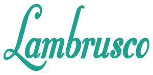 LAMBRUSCO WALL DECAL IN TURQUOISE