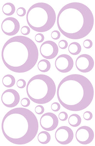 LAVENDER BUBBLE STICKERS
