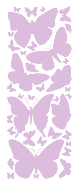 LAVENDER BUTTERFLY WALL DECALS