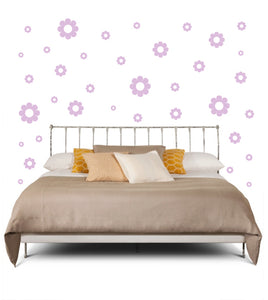 LAVENDER DAISY DECALS