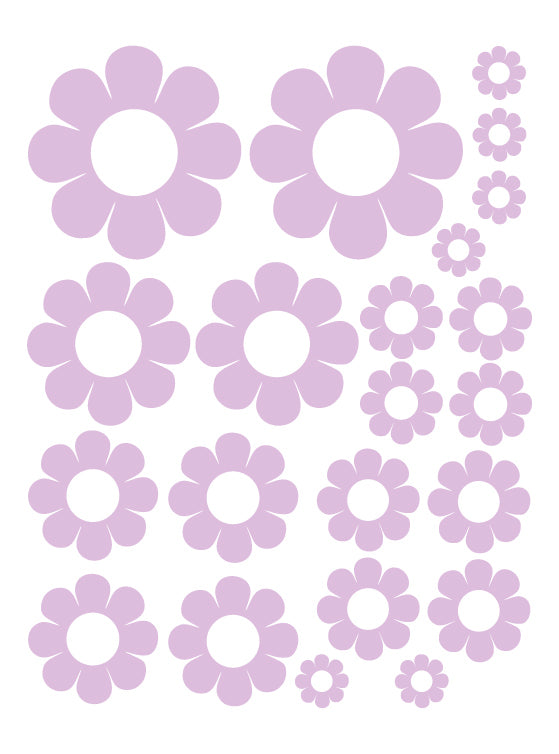 LAVENDER DAISY WALL DECALS