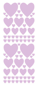 LAVENDER HEART WALL STICKERS
