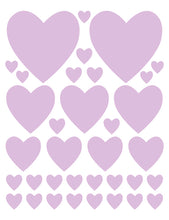 Load image into Gallery viewer, LAVENDER HEART WALL DECALS