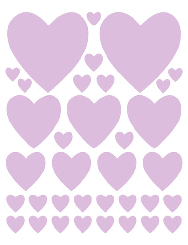 LAVENDER HEART WALL DECALS