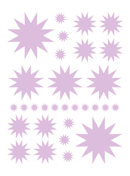 LAVENDER STARBURST WALL DECALS
