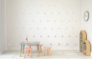 LAVENDER TRIANGLE DECALS