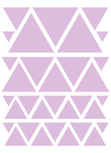 Load image into Gallery viewer, LAVENDER TRIANGLE WALL DECALS
