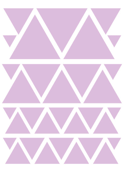 LAVENDER TRIANGLE WALL DECALS