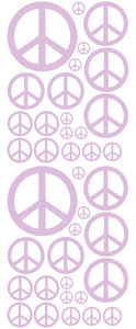 LAVENDER PEACE SIGN DECAL