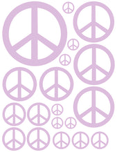 Load image into Gallery viewer, LAVENDER PEACE SIGN WALL DECAL
