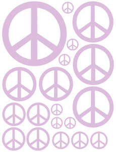 LAVENDER PEACE SIGN WALL DECAL