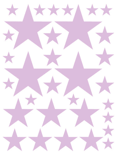 LAVENDER STAR WALL DECALS