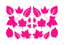 Load image into Gallery viewer, LEAVES LEAF WALL DECALS IN HOT PINK