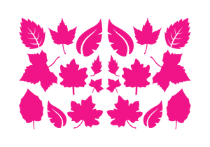 LEAVES LEAF WALL DECALS IN HOT PINK