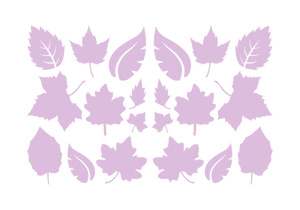 LEAVES LEAF WALL DECALS IN LAVENDER