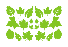 Load image into Gallery viewer, LEAVES LEAF WALL DECALS IN LIME GREEN