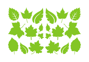LEAVES LEAF WALL DECALS IN LIME GREEN