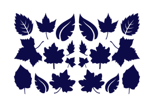 LEAVES LEAF WALL DECALS IN NAVY BLUE
