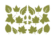 Load image into Gallery viewer, LEAVES LEAF WALL DECALS IN OLIVE GREEN