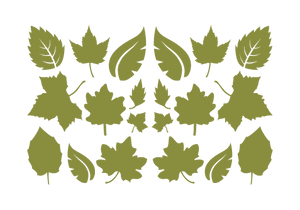 LEAVES LEAF WALL DECALS IN OLIVE GREEN