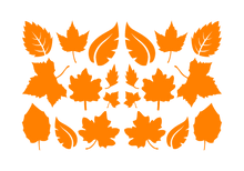 Load image into Gallery viewer, LEAVES LEAF WALL DECALS IN ORANGE