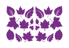 Load image into Gallery viewer, LEAVES LEAF WALL DECALS IN PURPLE