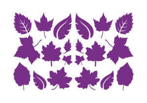 LEAVES LEAF WALL DECALS IN PURPLE