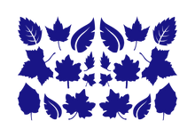 Load image into Gallery viewer, LEAVES LEAF WALL DECALS IN ROYAL BLUE