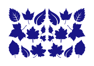 LEAVES LEAF WALL DECALS IN ROYAL BLUE