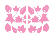 Load image into Gallery viewer, LEAVES LEAF WALL DECALS IN SOFT PINK