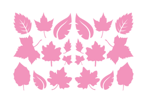 LEAVES LEAF WALL DECALS IN SOFT PINK