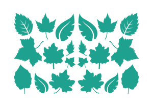 LEAVES LEAF WALL DECALS IN TURQUOISE
