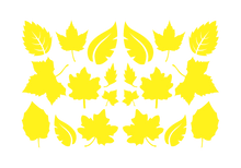 Load image into Gallery viewer, LEAVES LEAF WALL DECALS IN YELLOW
