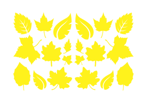 LEAVES LEAF WALL DECALS IN YELLOW