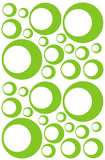 LIME GREEN BUBBLE WALL DECALS