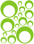 LIME GREEN BUBBLE DECALS