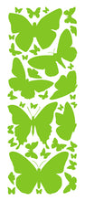 Load image into Gallery viewer, LIME GREEN BUTTERFLY WALL DECALS