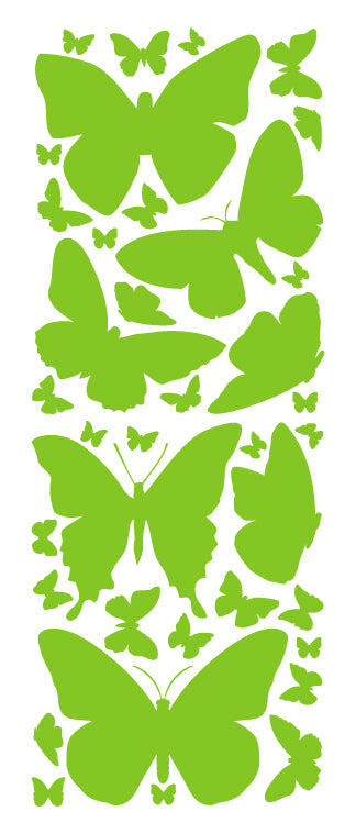 LIME GREEN BUTTERFLY WALL DECALS