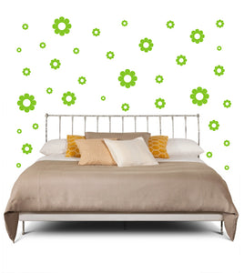 LIME GREEN DAISY WALL DECOR