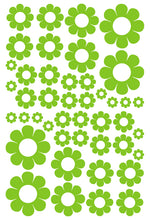Load image into Gallery viewer, LIME GREEN DAISY WALL STICKERS