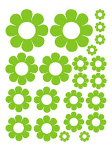 Load image into Gallery viewer, LIME GREEN DAISY WALL DECALS