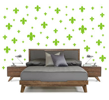 Load image into Gallery viewer, LIME GREEN FLEUR DE LIS WALL DECOR