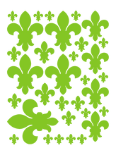 Load image into Gallery viewer, LIME GREEN FLEUR DE LIS WALL DECALS
