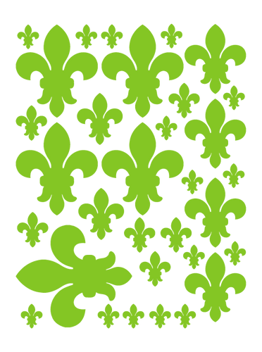 LIME GREEN FLEUR DE LIS WALL DECALS
